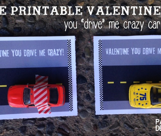 Free Printable Car Valentine Card