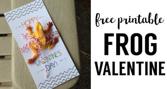 DIY Frog Valentine Printable Card. This frog valentine card is a perfect no candy valentine for kids valentine exchanges at school.