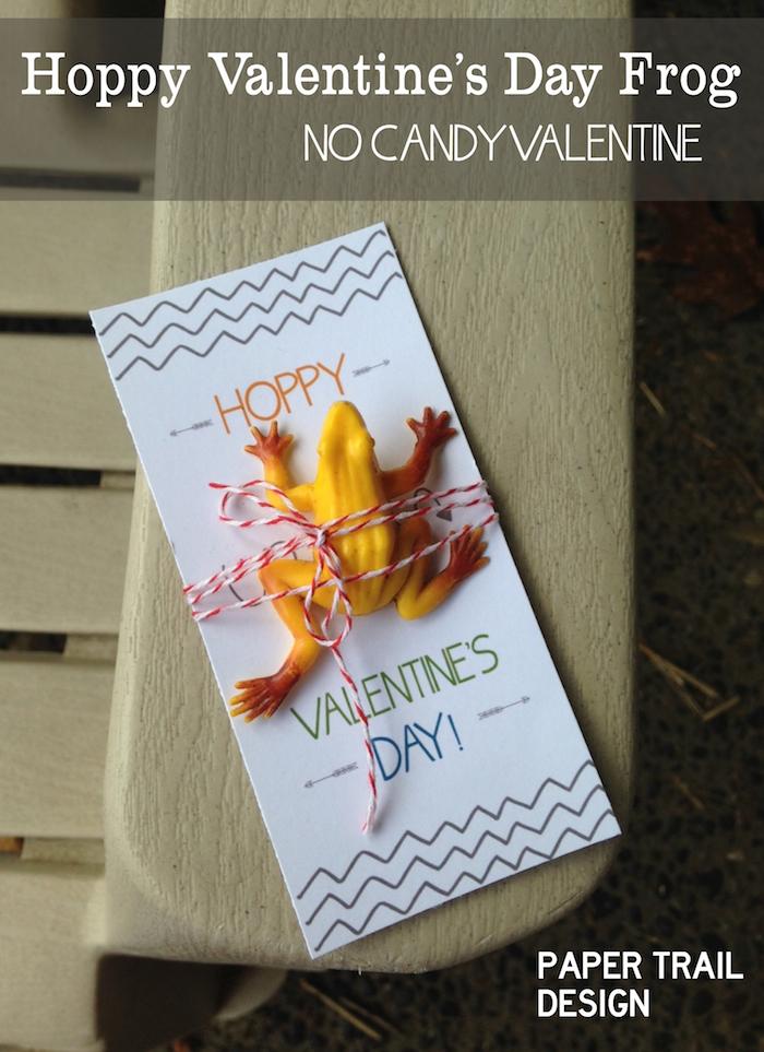 DIY Frog Valentine Printable Card Paper Trail Design