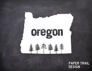 Oregon-trees-sillouhette-chalkboard-logo