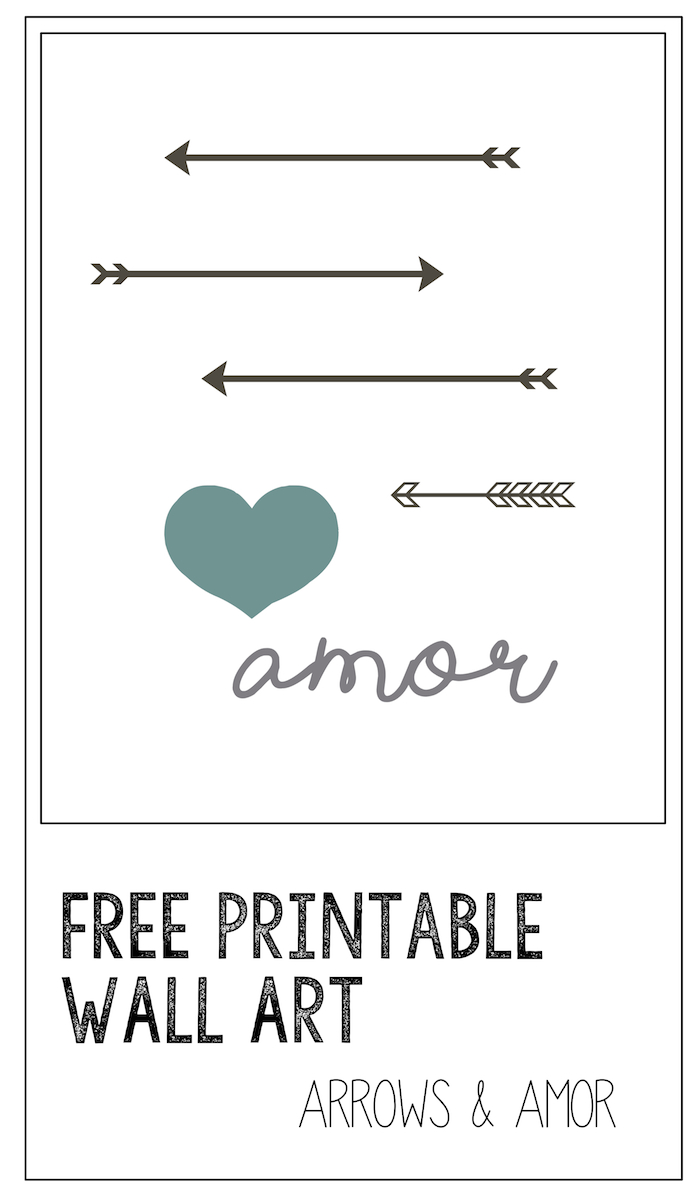 image about Printable Arrow titled Printable Wall Artwork: Arrows Amor - Paper Path Style