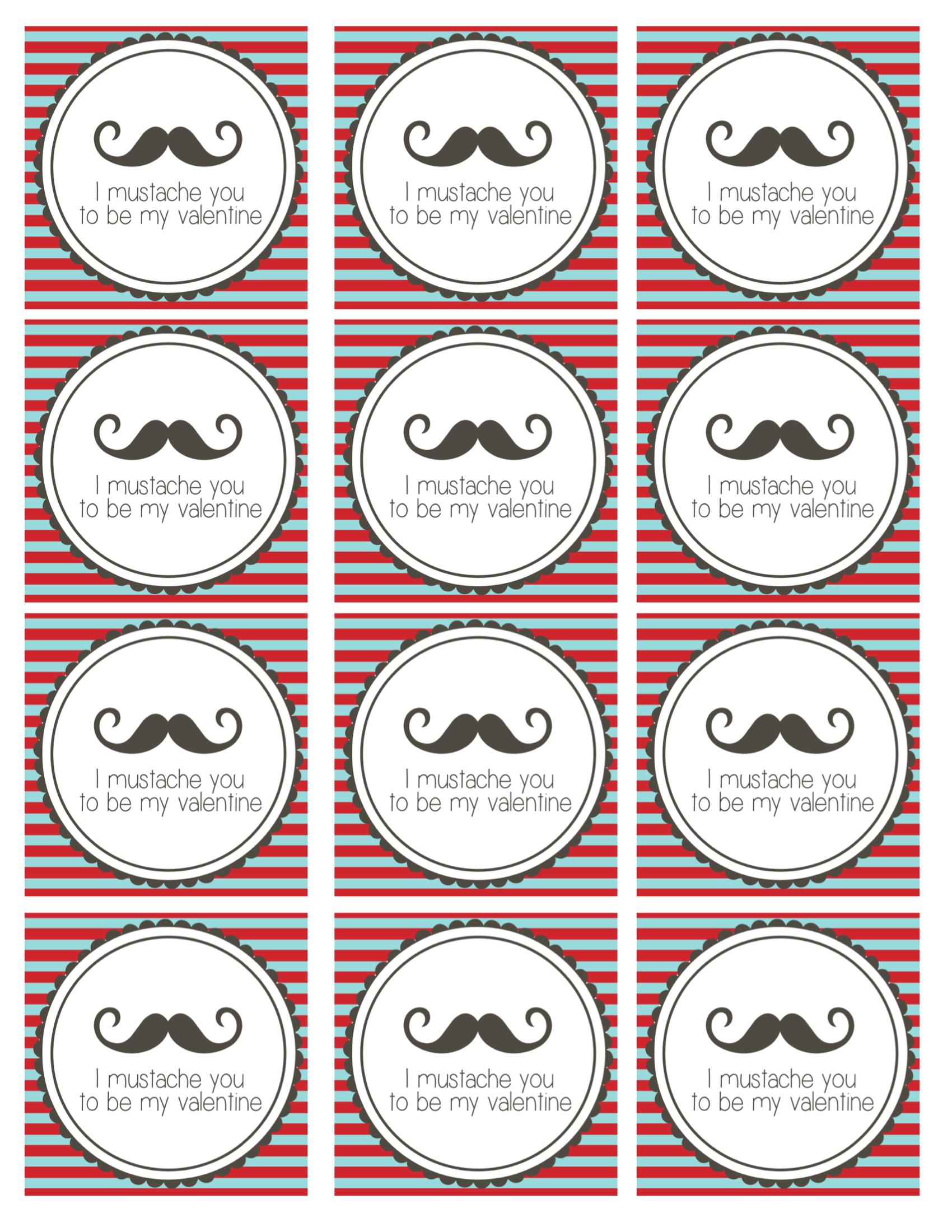 mustache printables