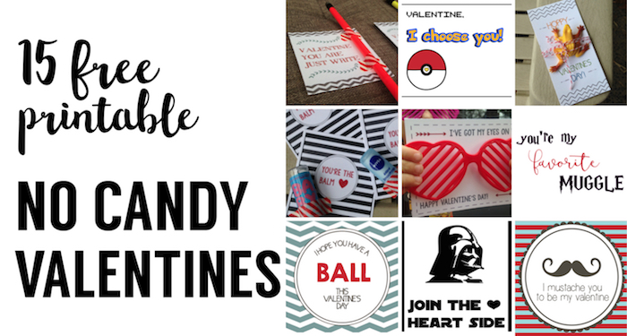 15 No Candy Valentines Free Printables Paper Trail Design
