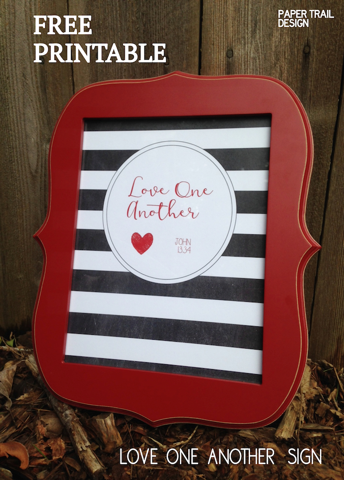 picture regarding Love One Another Printable identify Cost-free Printable \