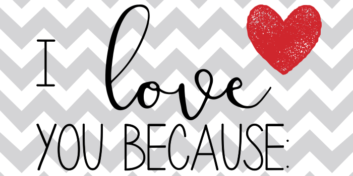 I Love You Because Printable poster