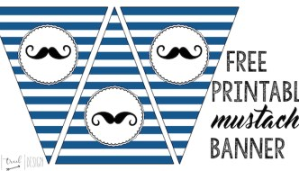 Mustache Banner Printable {Mustache Party}