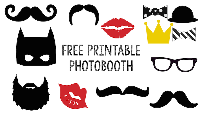 free printable photobooth paper trail design