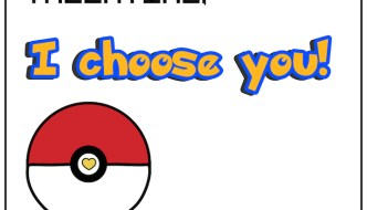 Free Printable Pokémon Valentine Cards