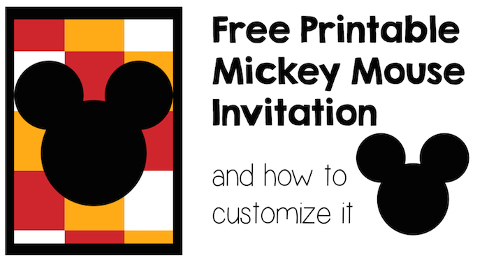 Mickey Mouse Invitation And How To Customize It Paper
