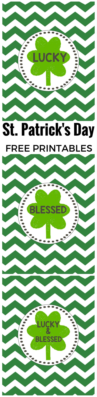 saint patrick u0027s day lucky free printables u0026 blessed bonus prints