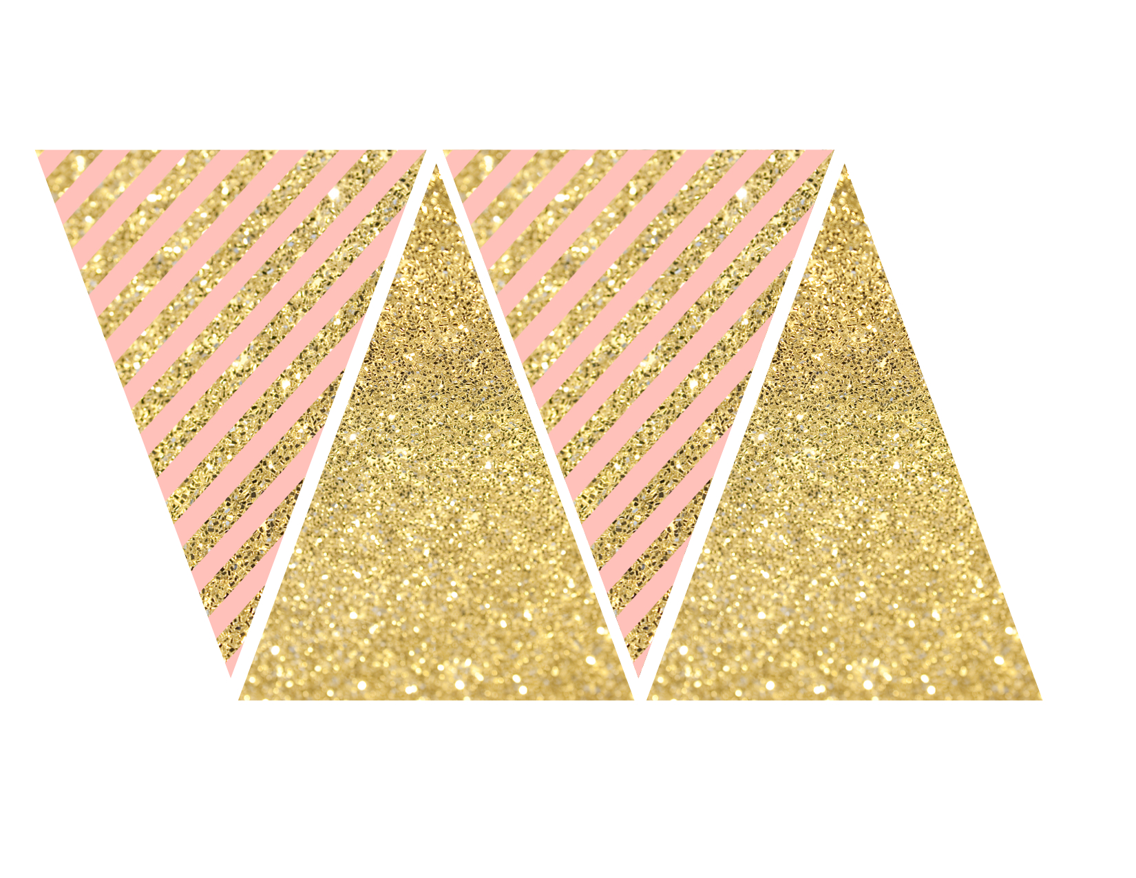 Pink and Gold Banner Free Printable  Paper Trail Design