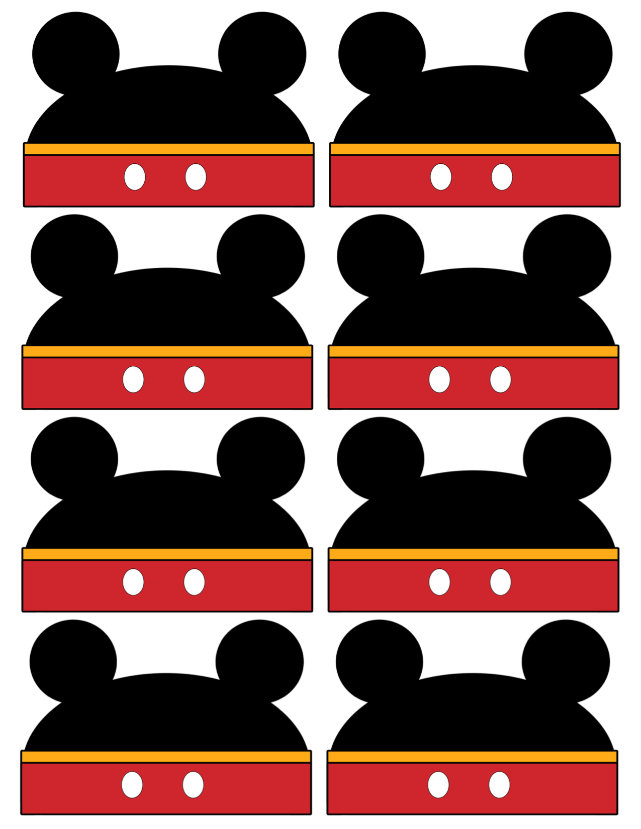 Mickey Mouse Labels Free Printable - Paper Trail Design