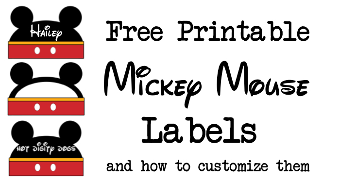 picture regarding Free Customized Name Tags Printable named Mickey Mouse Labels Totally free Printable - Paper Path Style
