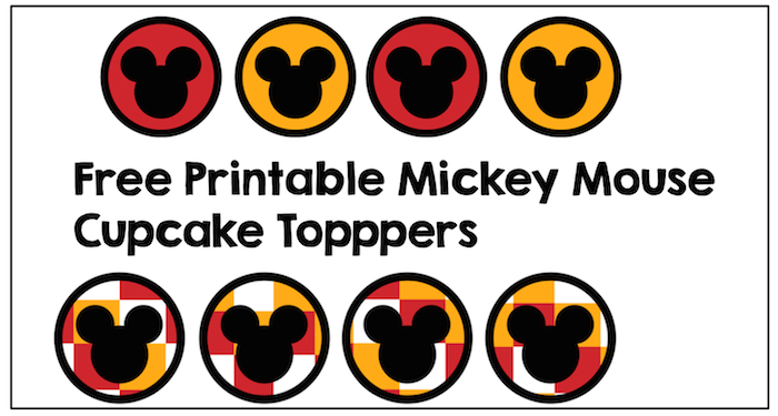 photograph relating to Mickey Printable known as Mickey Mouse Cupcake Toppers - Paper Path Design and style
