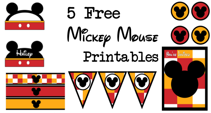 photograph regarding Printable Mickey Mouse known as 5 Mickey Mouse Absolutely free Printables - Paper Path Design and style