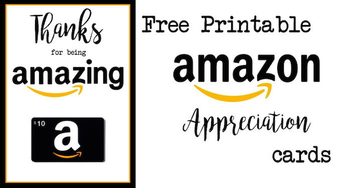graphic relating to Amazon Gift Card Printable called Instructor Appreciation Amazon Card - Paper Path Style