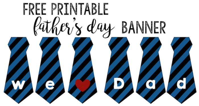 image relating to Happy Father's Day Banner Printable titled Fathers Working day Banner Totally free Printable - Paper Path Layout