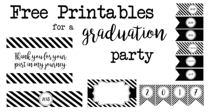 graduation party free printables   paper trail design