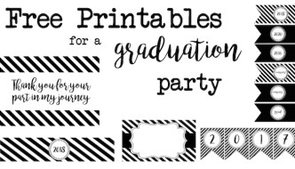 Graduation Party Free Printables
