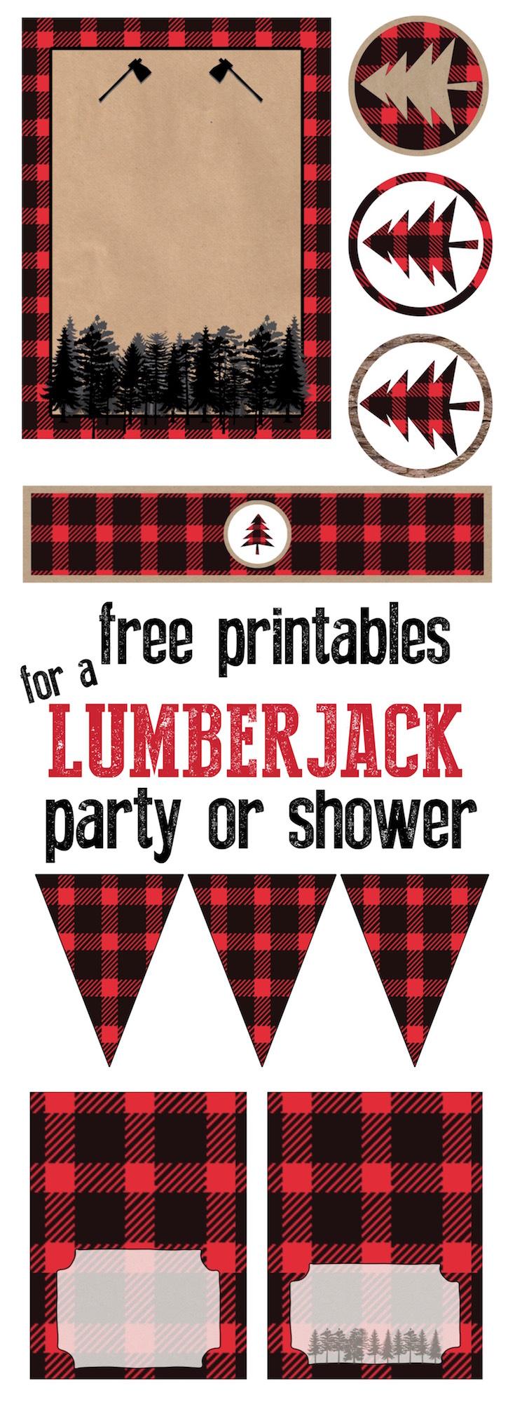 Lumberjack Party Free Printables Paper Trail Design