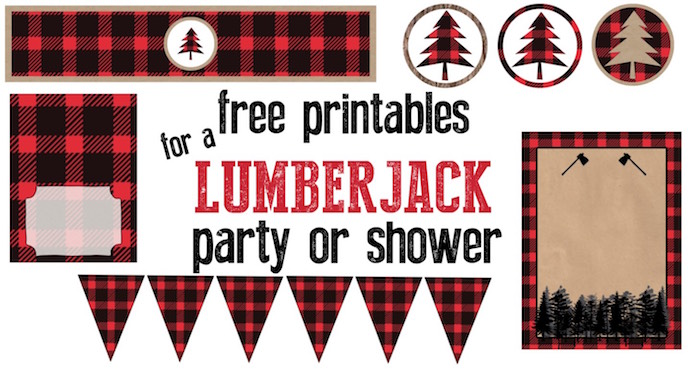Lumberjack Party Free Printables Paper Trail Design