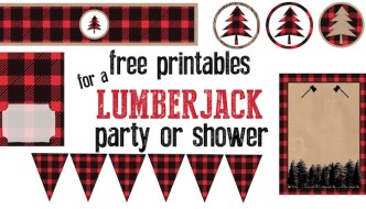 Lumberjack Party Free Printables