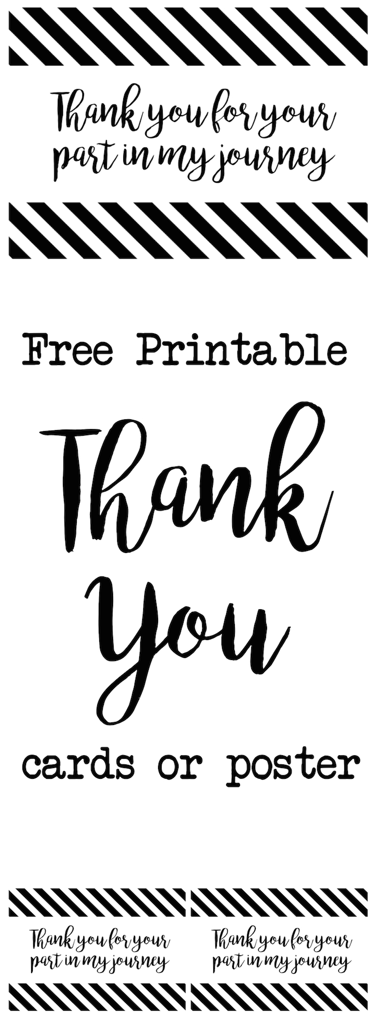 picture relating to Free Printable Thank You Cards to Color identified as Thank Your self Playing cards or Poster Thank by yourself for your element inside my