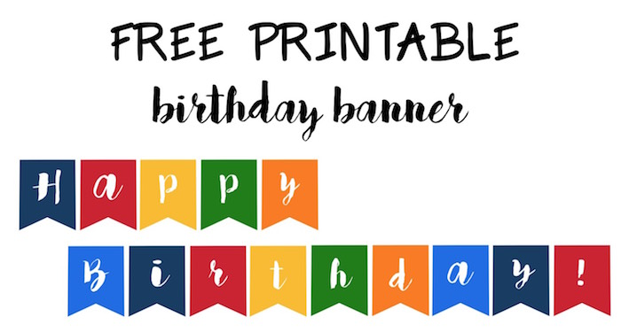 image about Printable Birthday Banners identify Content Birthday Banner Totally free Printable - Paper Path Design and style