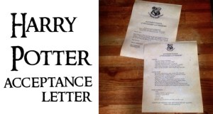 Harry Potter Hogwarts Acceptance Letter easy DIY tutorial with template. Easy tutorial with everything you need to easily make ad personalize your own Hogwarts acceptance letter.