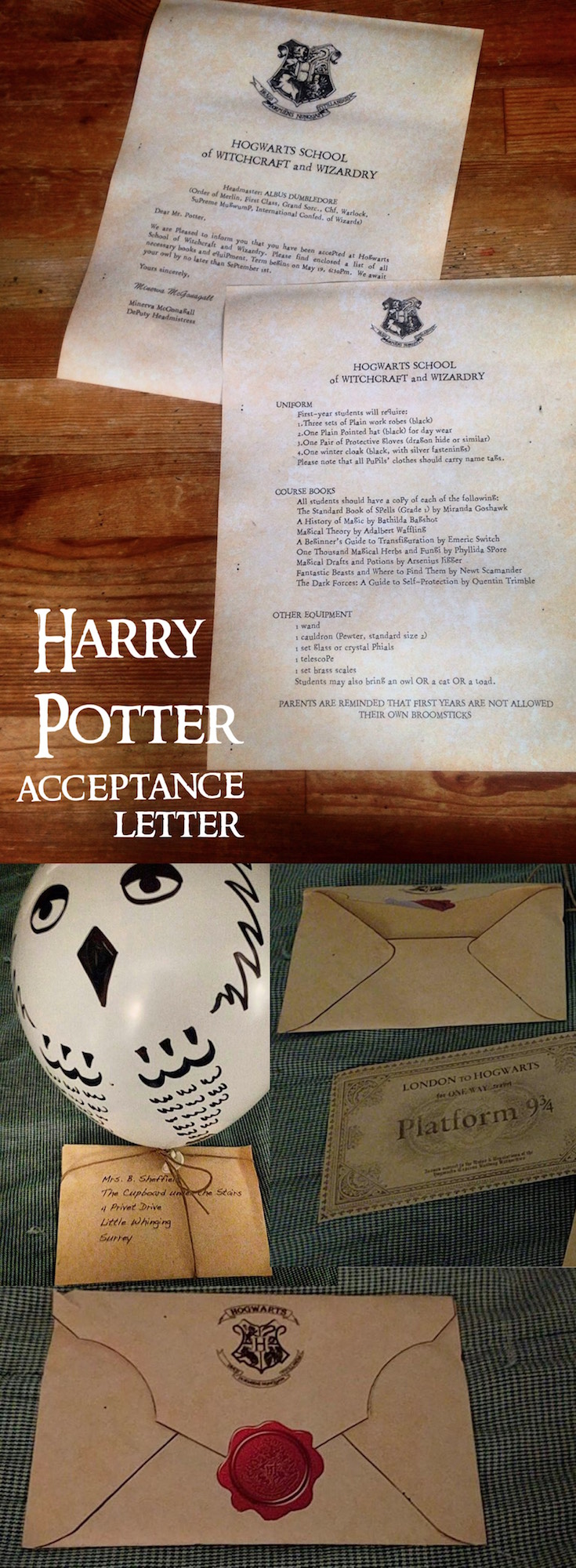 Harry potter hogwarts acceptance letter paper trail design harry potter hogwarts acceptance letter easy diy tutorial with template easy tutorial with everything you biocorpaavc