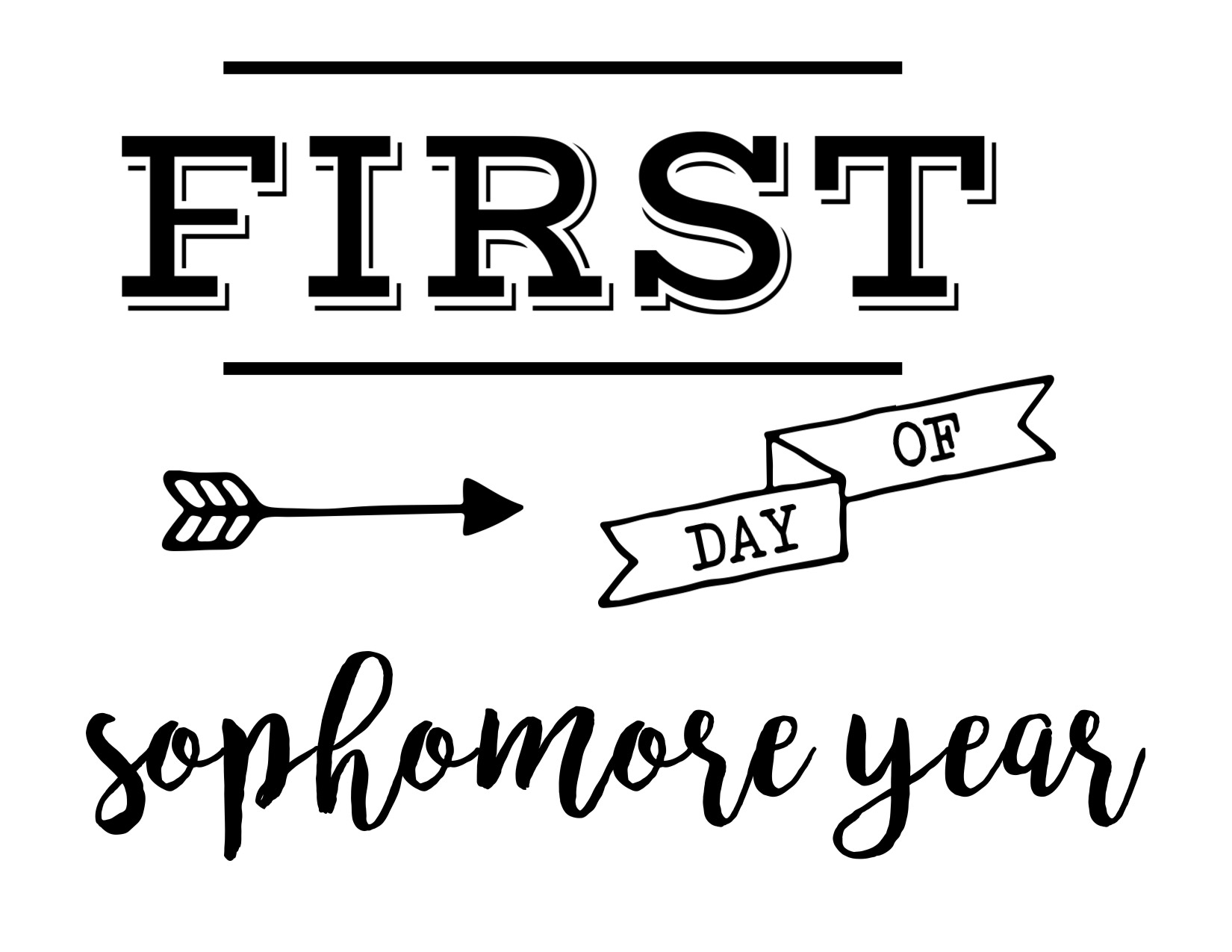 hight resolution of First Day of School Sign Free Printable   Paper Trail Design