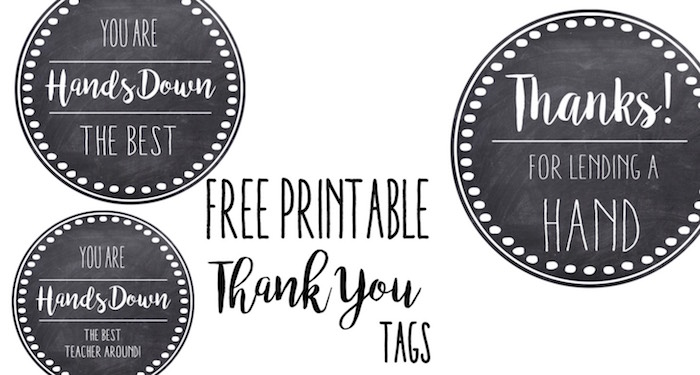 picture about Hands Down You Re the Best Teacher Around Free Printable titled Thank Your self Trainer Appreciation Tags No cost Printable - Paper