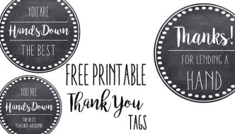 Thank You & Teacher Appreciation Tags Free Printable