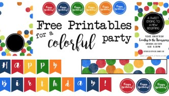 Colorful Party Free Printables