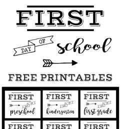 First Day of School Sign Free Printable   Paper Trail Design [ 2170 x 735 Pixel ]