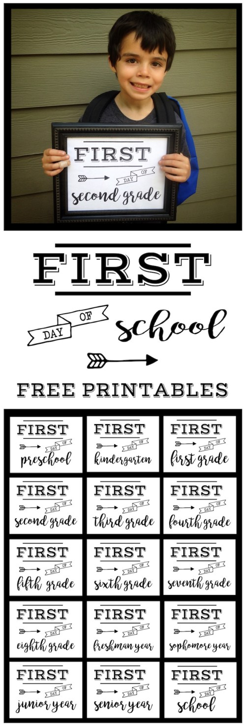 small resolution of First Day of School Sign Free Printable   Paper Trail Design