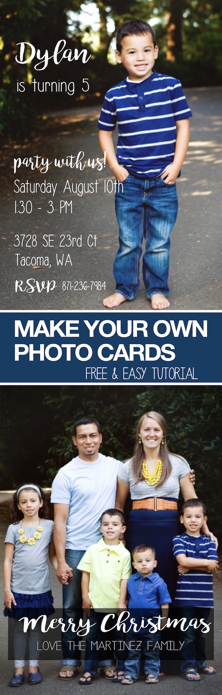 How To Make Photo Cards Or Invitations Diy Paper Trail Design