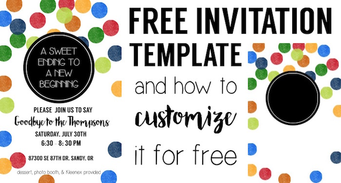 Colorful Party Invitation Free Template Paper Trail Design