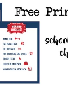 School morning routine checklist free printable also paper trail design rh papertraildesign
