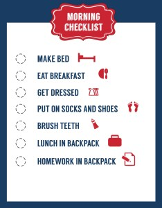 School morning routine checklist free printable also paper trail design rh papertraildesign
