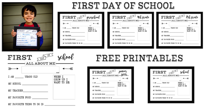 photograph relating to Free Printable All About Me Worksheet named Initial Working day of Faculty All With regards to Me Signal - Paper Path Style