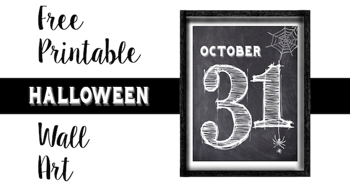 image about Free Printable Wall Art Decor identify Halloween Oct 31 Wall Artwork Cost-free Printable - Paper Path