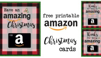 Printable Christmas Gift Card Holders for Amazon. Print free printable flannel Christmas cards for amazon gift cards. Great teacher gift for Christmas.