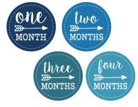 Baby Boy Monthly Onesie Stickers Free Printable. Print these baby boy labels on sticker paper and take a picture of your child each month as they grow. Makes a great baby shower gift.