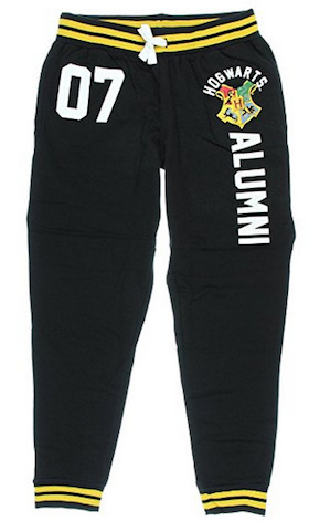 Hogwarts alumni jogger pants are one of the best Harry Potter gifts.