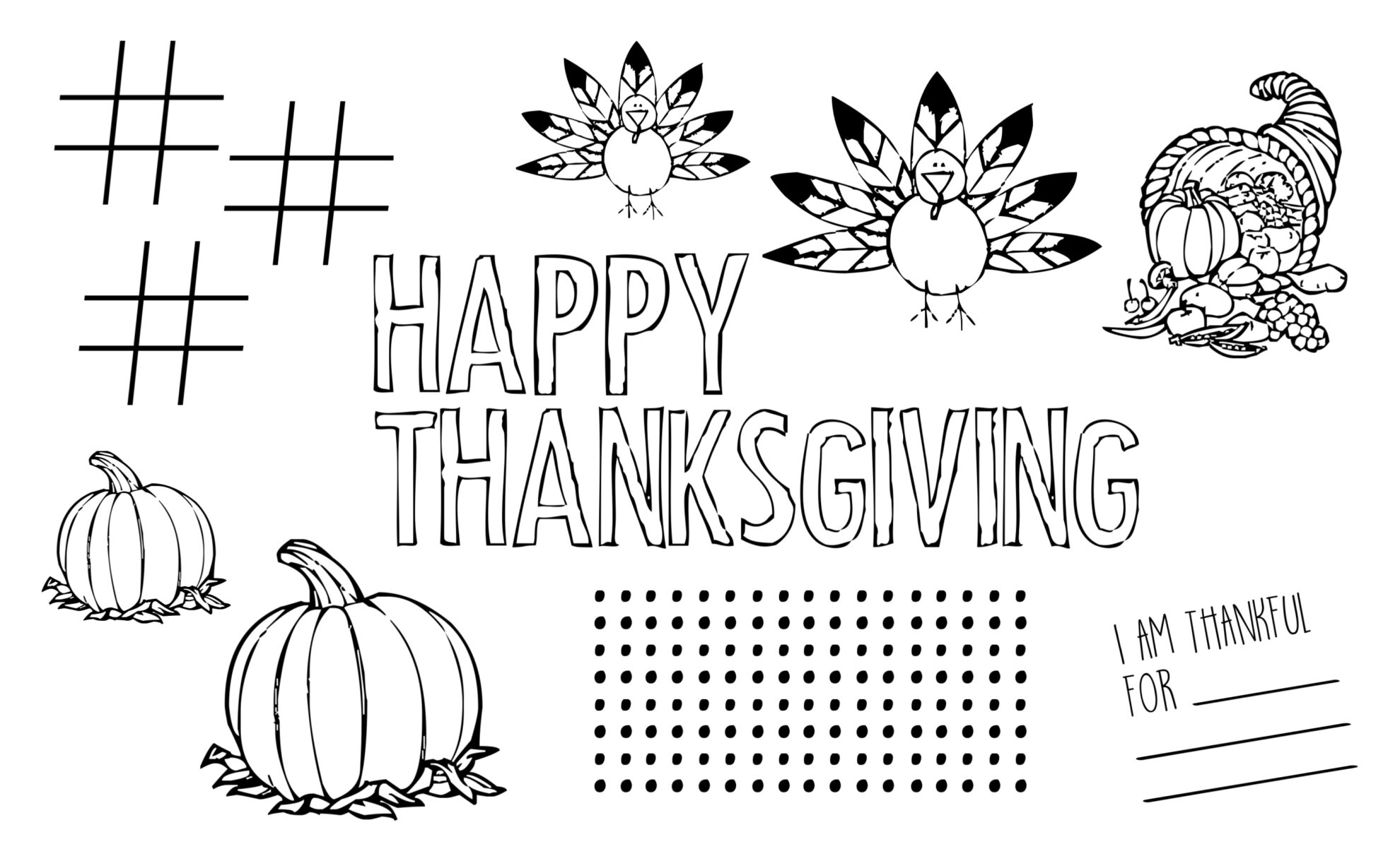 Free Printable Thanksgiving Placemat