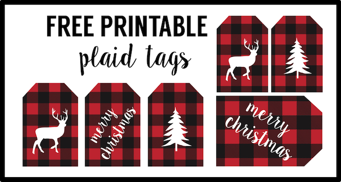 Rustic Christmas Tags Free Printable Paper Trail Design