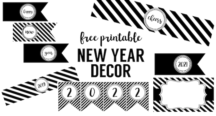 photo relating to Happy New Year Printable titled Delighted Contemporary Yr Get together Printables - Paper Path Style and design