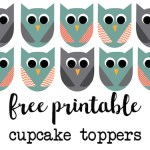 Owl cupcake topper free printable. Free printable owl cupcake toppers perfect for an owl birthday party or owl baby shower decor.