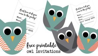 Free Printable Owl Invitations
